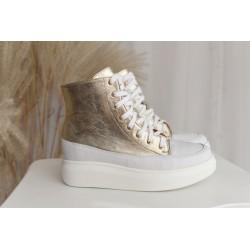 Sneakersy złote Deli