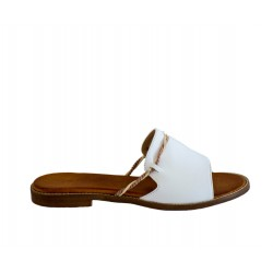 Białe klapki Tulum