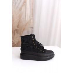 Czarne sneakersy moro